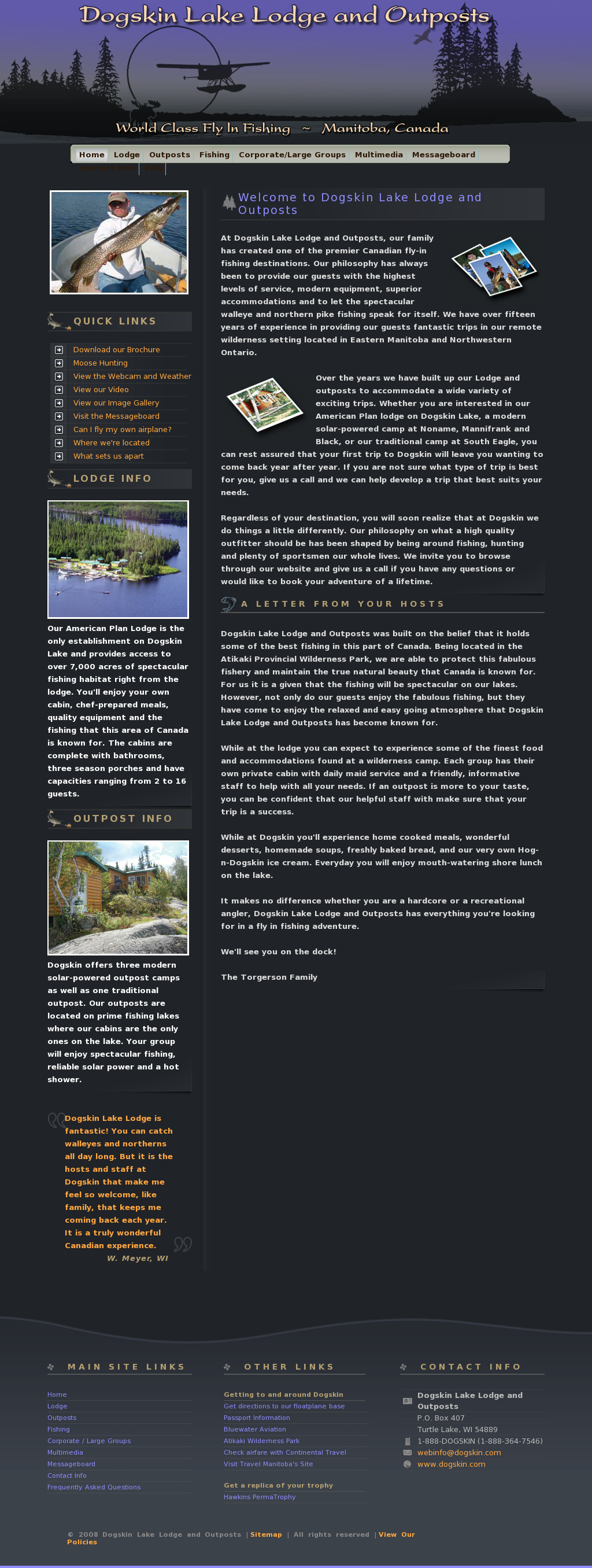 Dogskin Lake Lodge And Outpost Competitors, Revenue and
