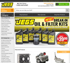 JEGS is a retailer of high quality, performance automotive parts. Check the