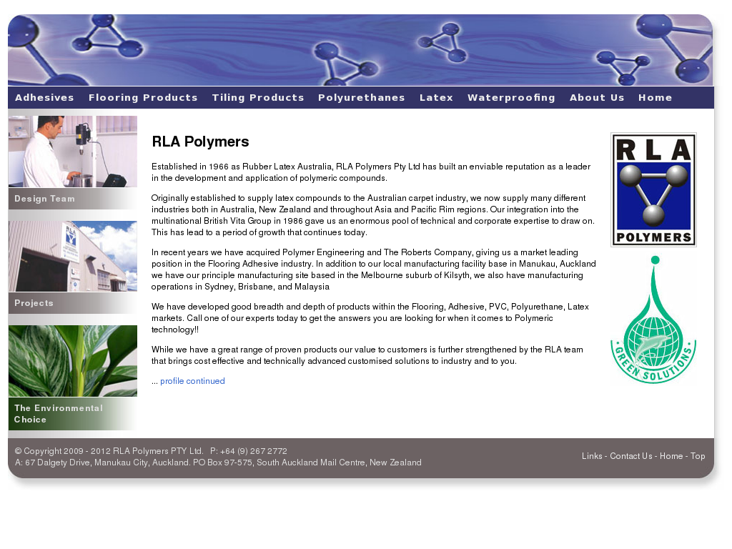 Roberts (A Division Of Rla Polymers Pty Ltd) Competitors
