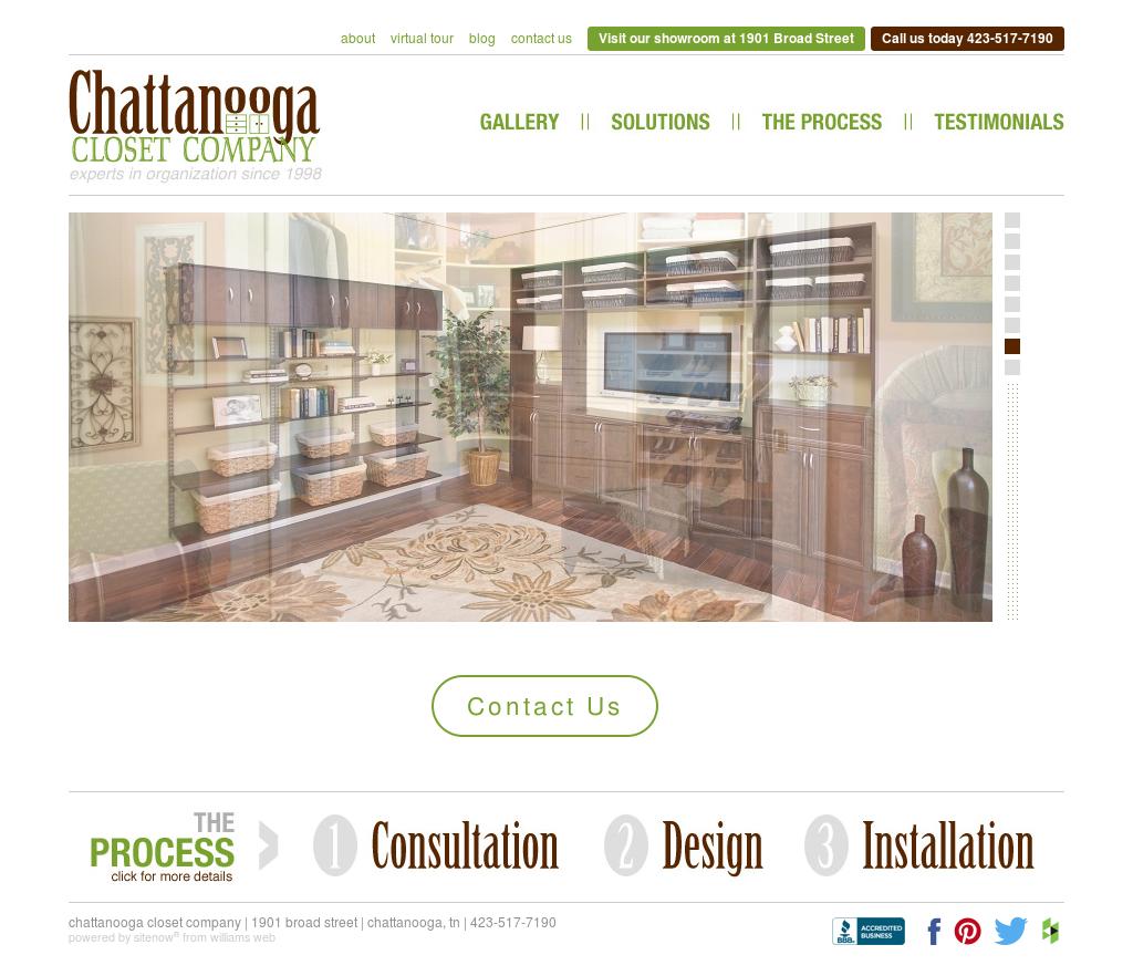 Chattanooga Closet Website History