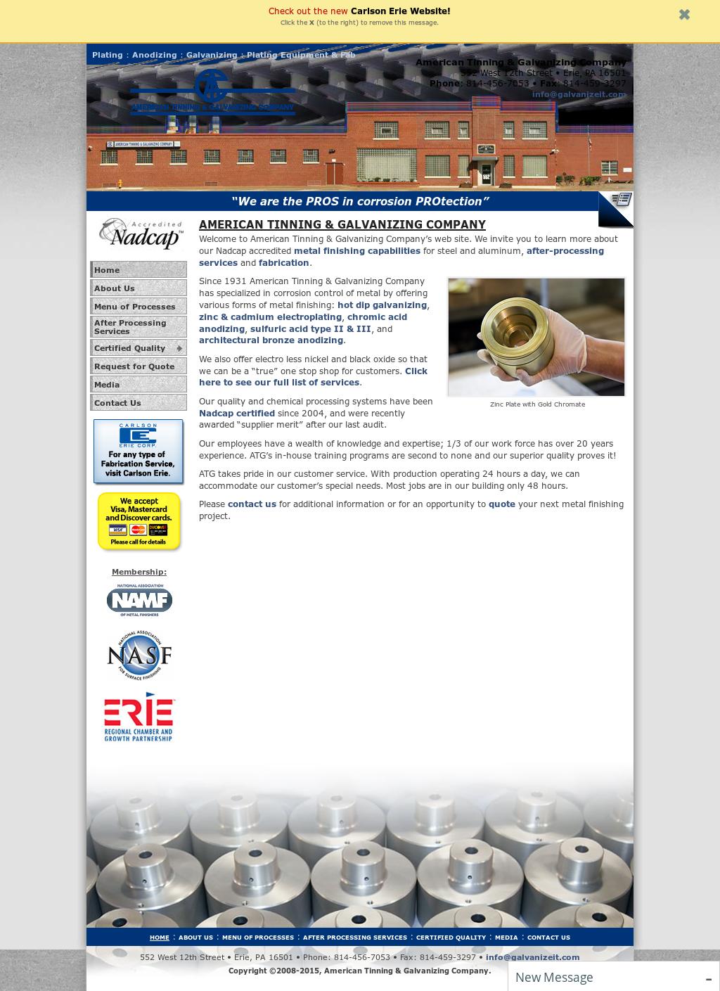 American Tinning & Galvanizing Competitors, Revenue and