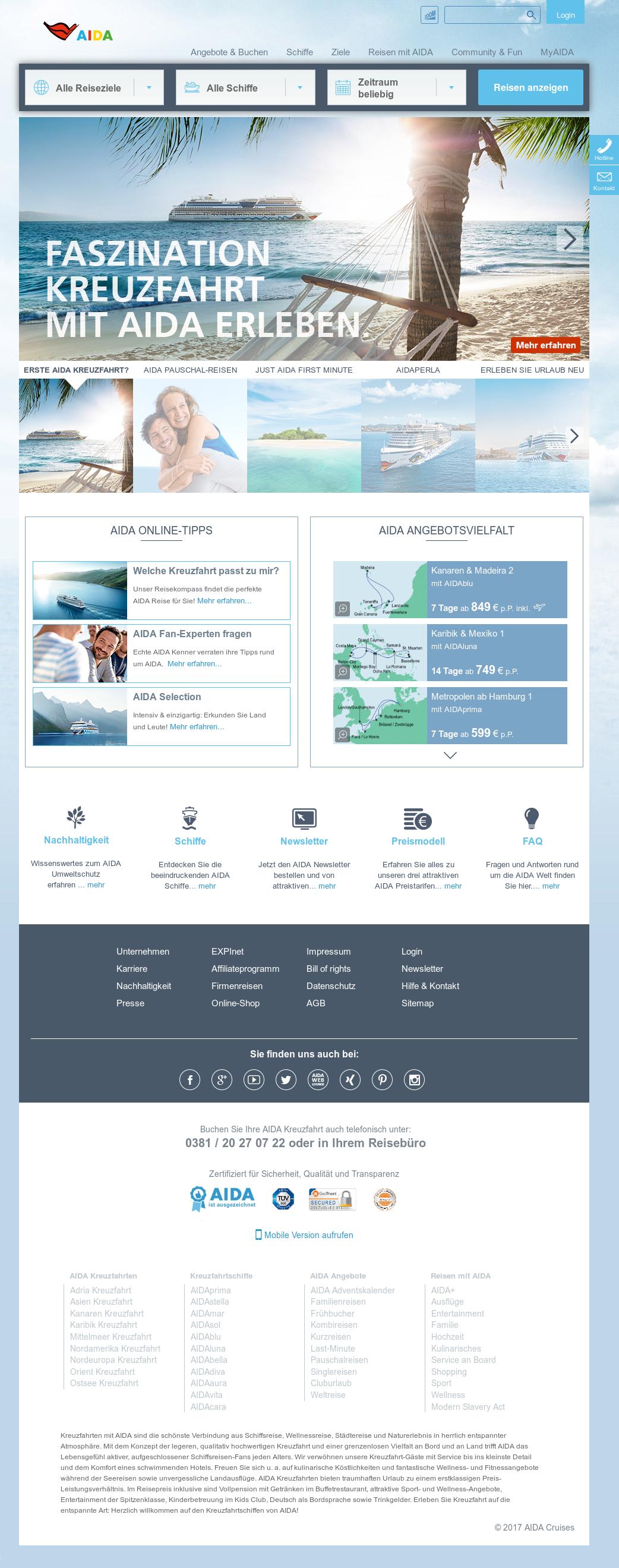 Aida Weihnachtskalender.Aida Cruises Competitors Revenue And Employees Owler Company Profile