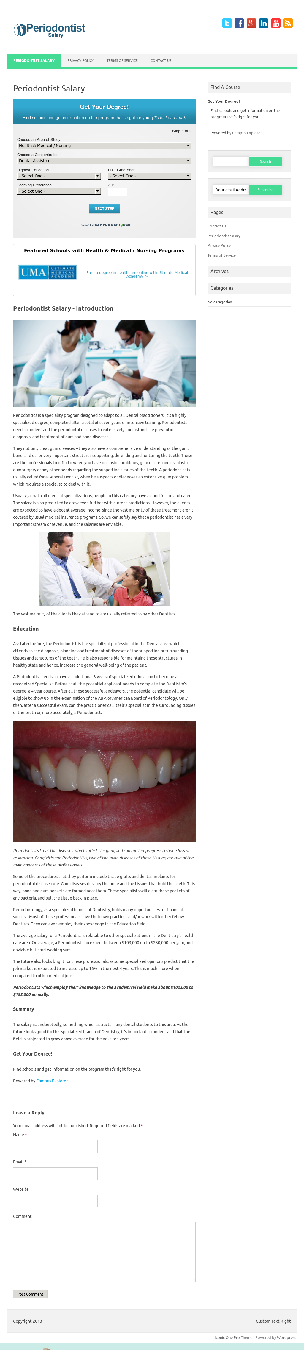 Periodontist Salary Competitors, Revenue and Employees