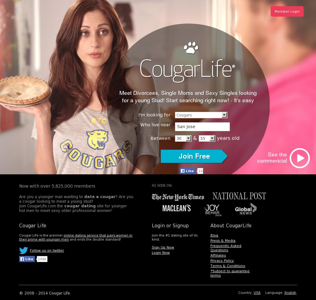 Cougar Life website history