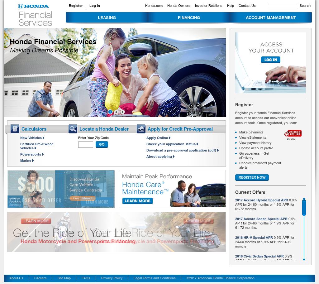 Hondafinancialservices Com Account Management >> American Honda Finance Competitors Revenue And Employees Owler