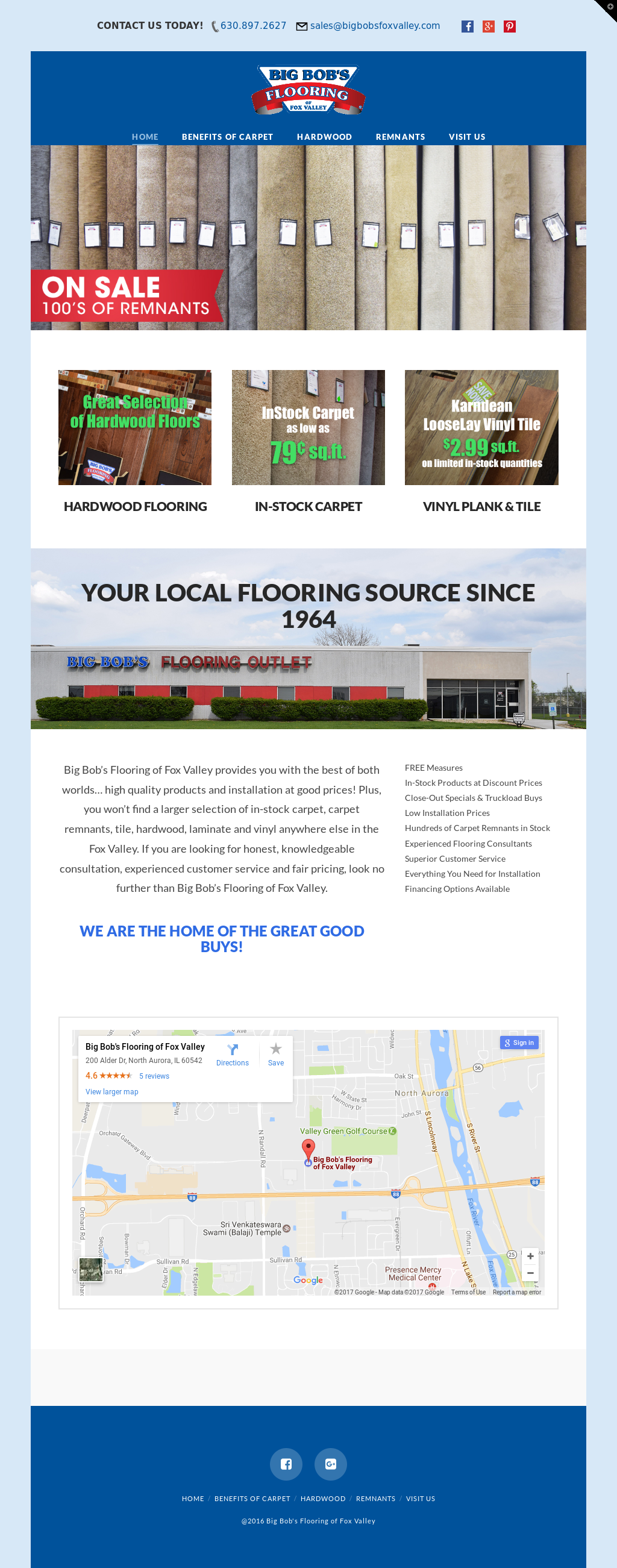 Big Bobs Flooring Outle Website History