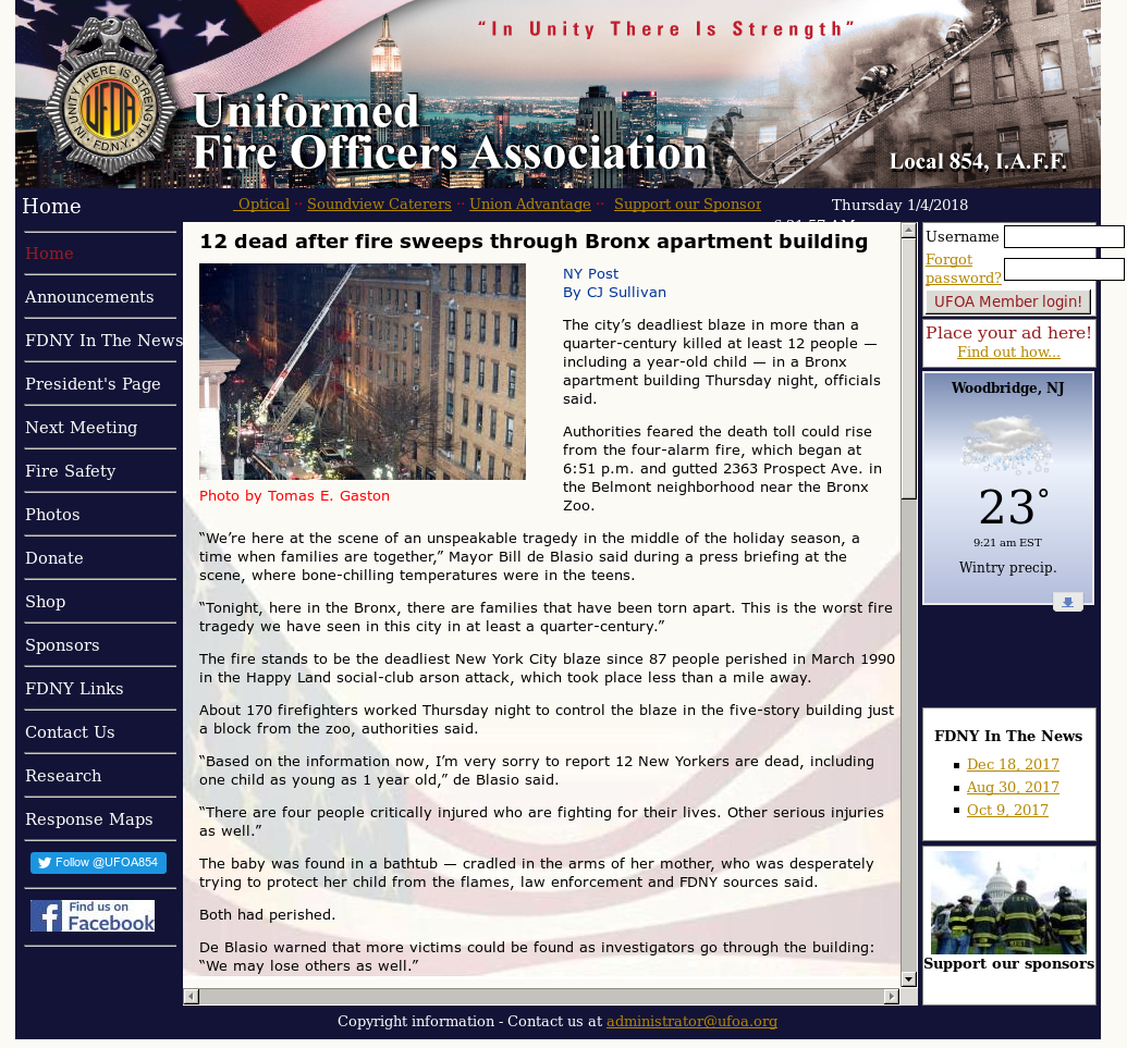 Annuity Fund Of Uniformed Fire Competitors, Revenue and