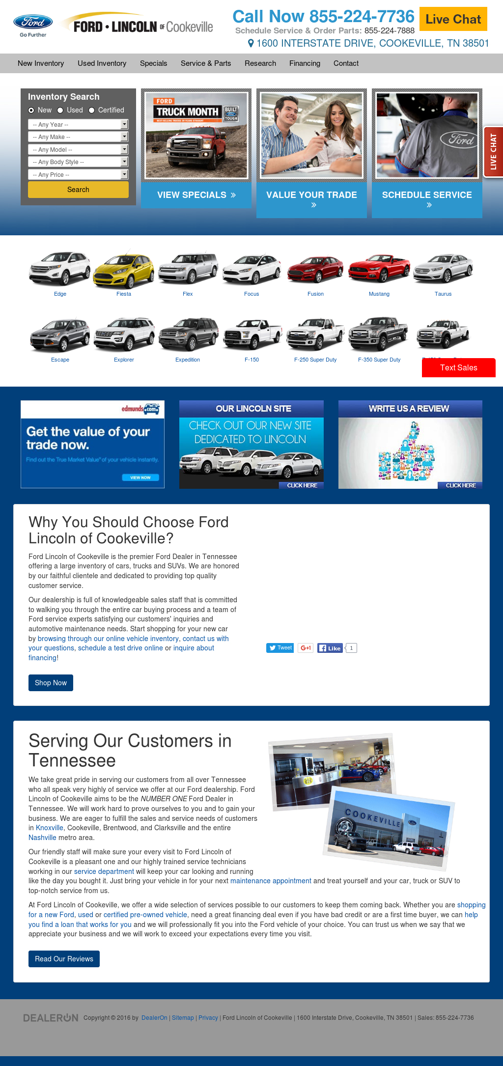 Ford Lincoln Of Cookeville Compeors Revenue And Employees Owler Company Profile