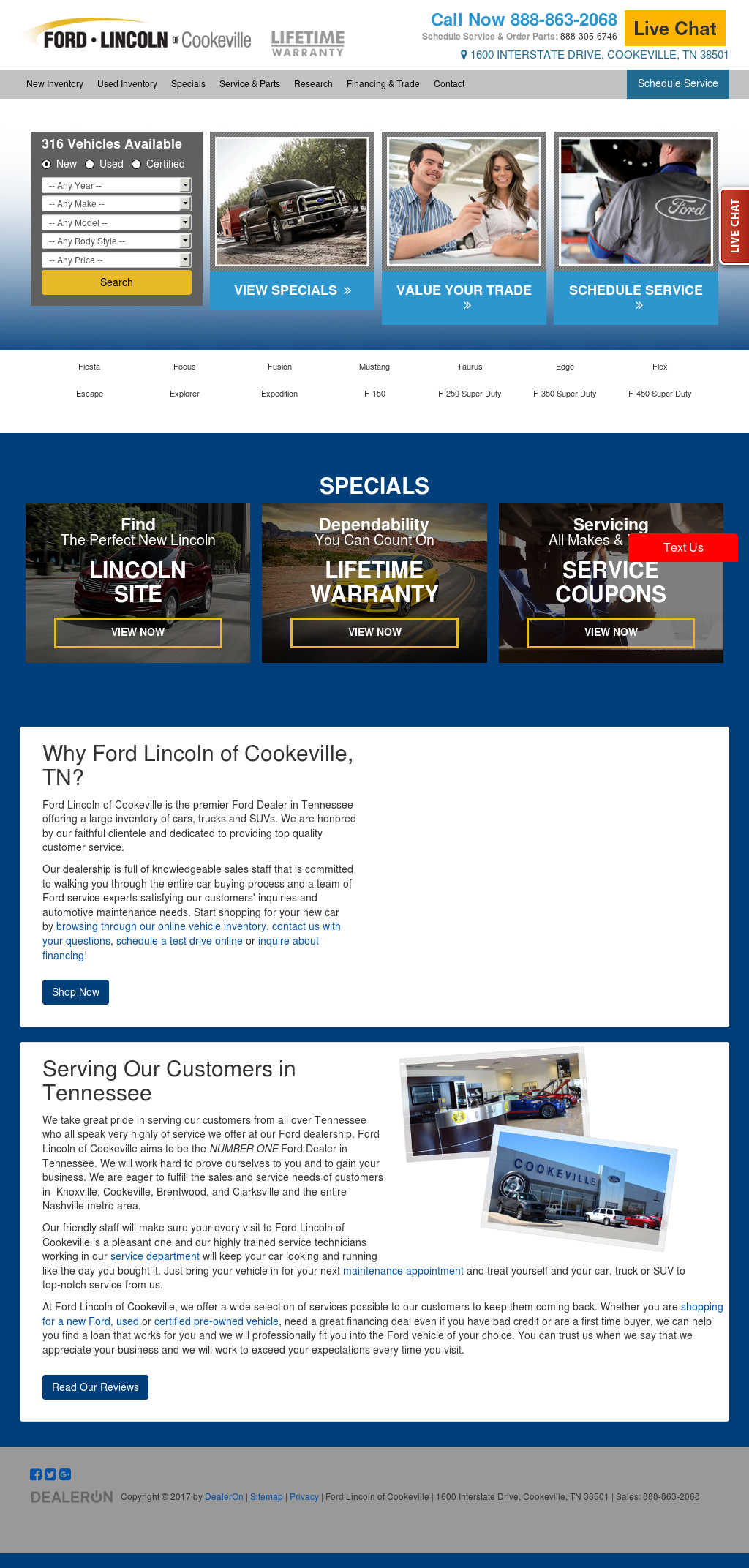 Ford lincoln of cookeville competitors revenue and employees owler company profile