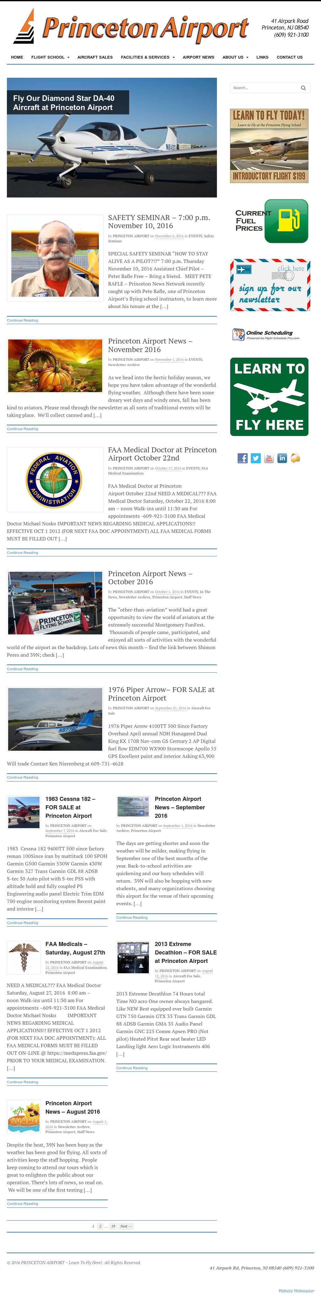 Raritan Valley Flying School Competitors, Revenue and