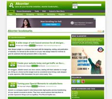 Akonter website history