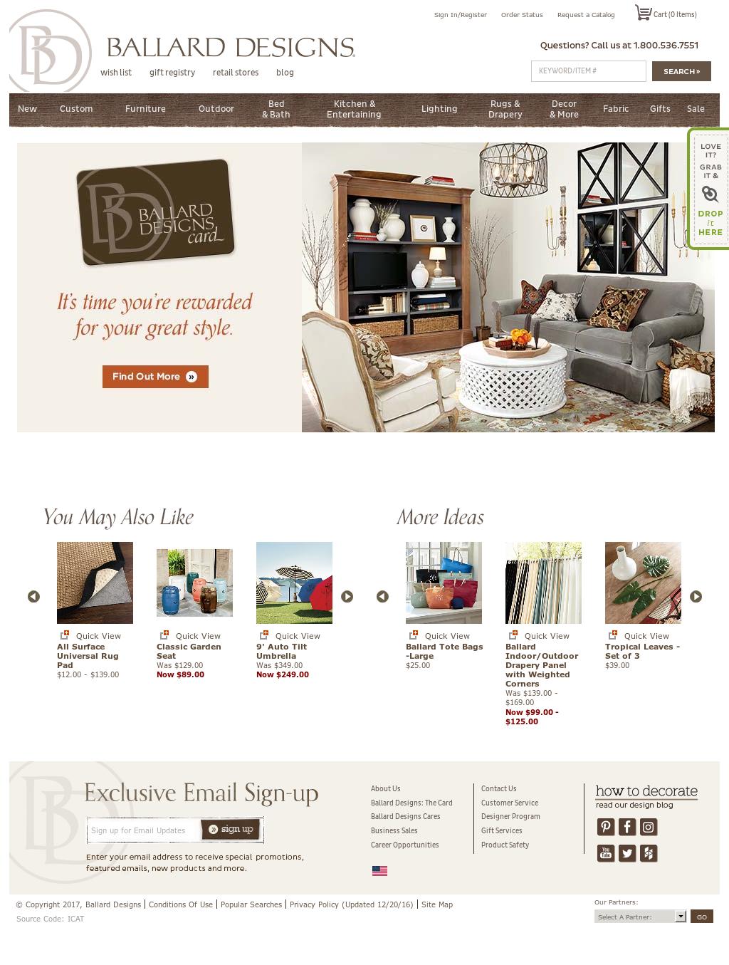 ballard designs competitors, revenue and employees - owler company