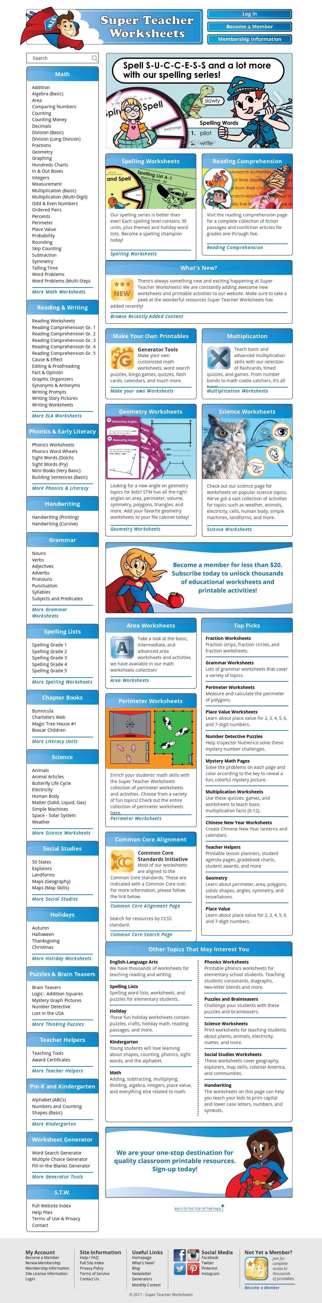 Super Teacher Worksheets Competitors Revenue And Employees Owler