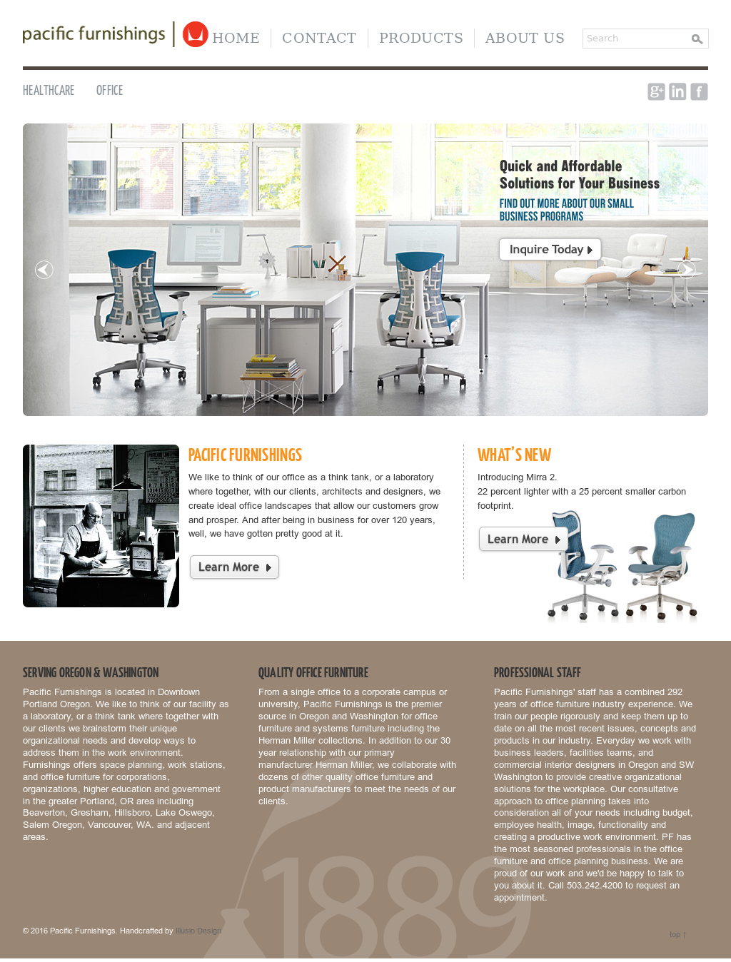 Charmant Pacific Office Furnishings Website History