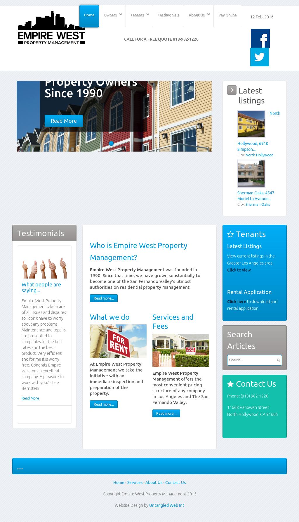 Empire West Property Management Competitors, Revenue and
