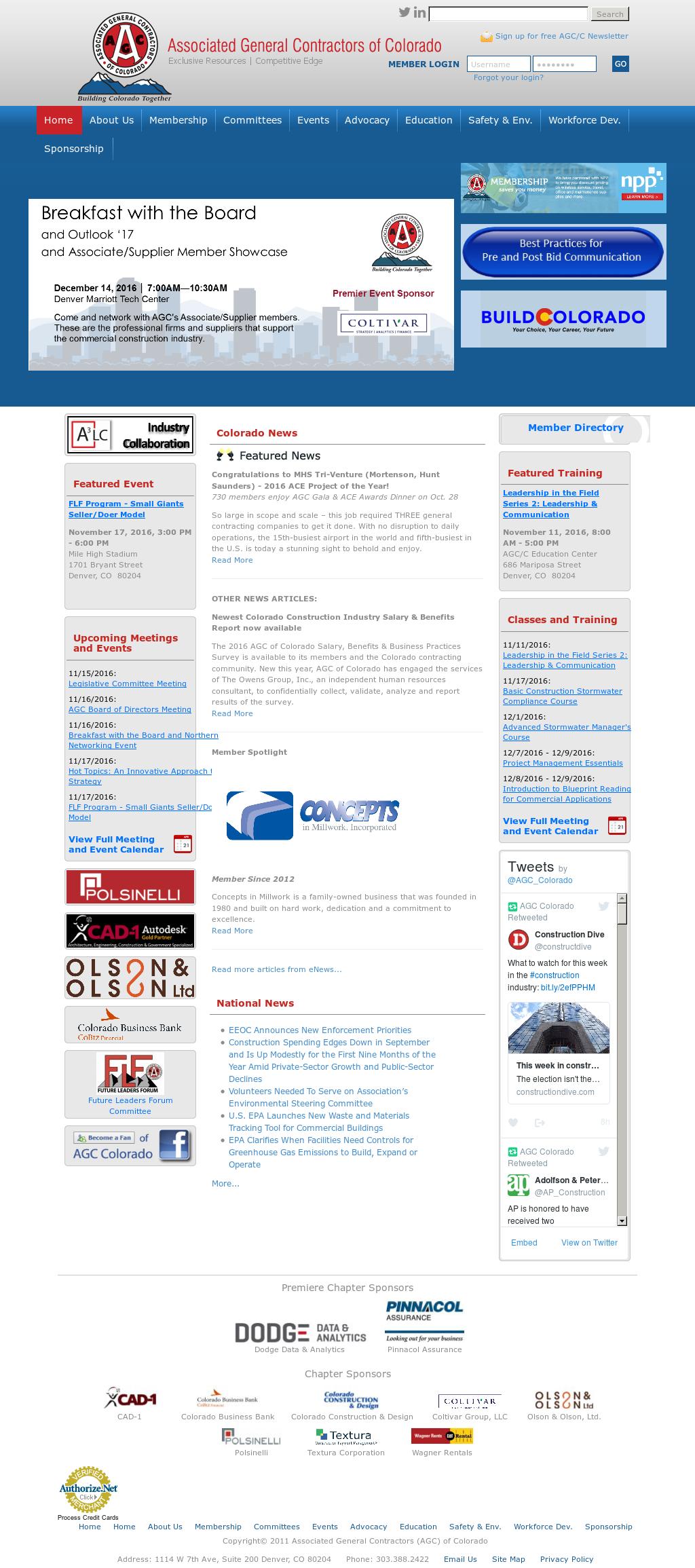 The Associated General Contractors(Agc) Of Colorado