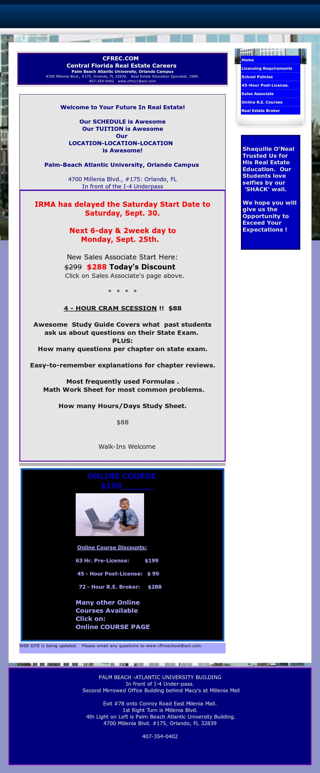 Central Florida Real Estate School Mortgage Broker School