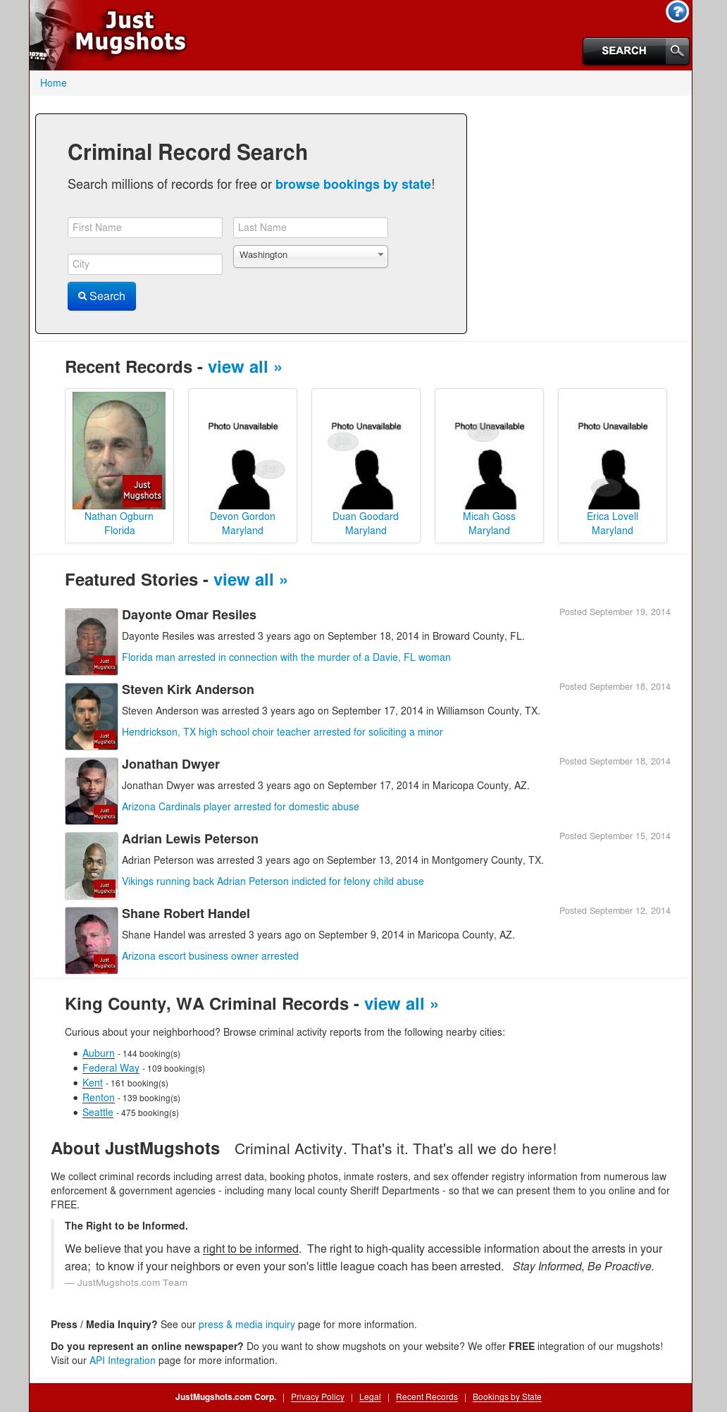 justmugshots website history