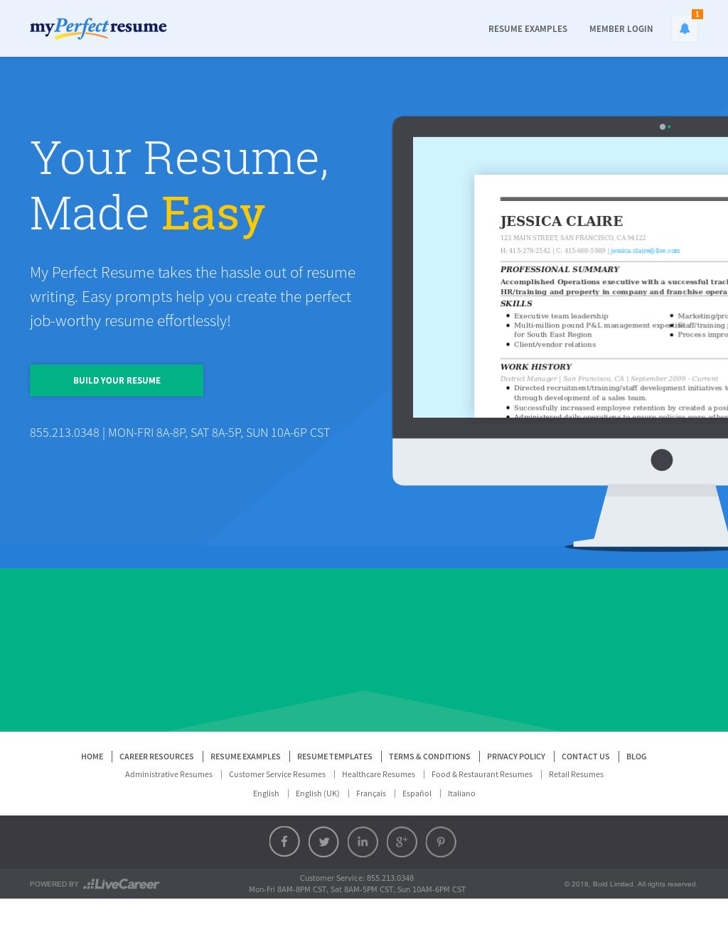 MyPerfectResume Competitors Revenue And Employees