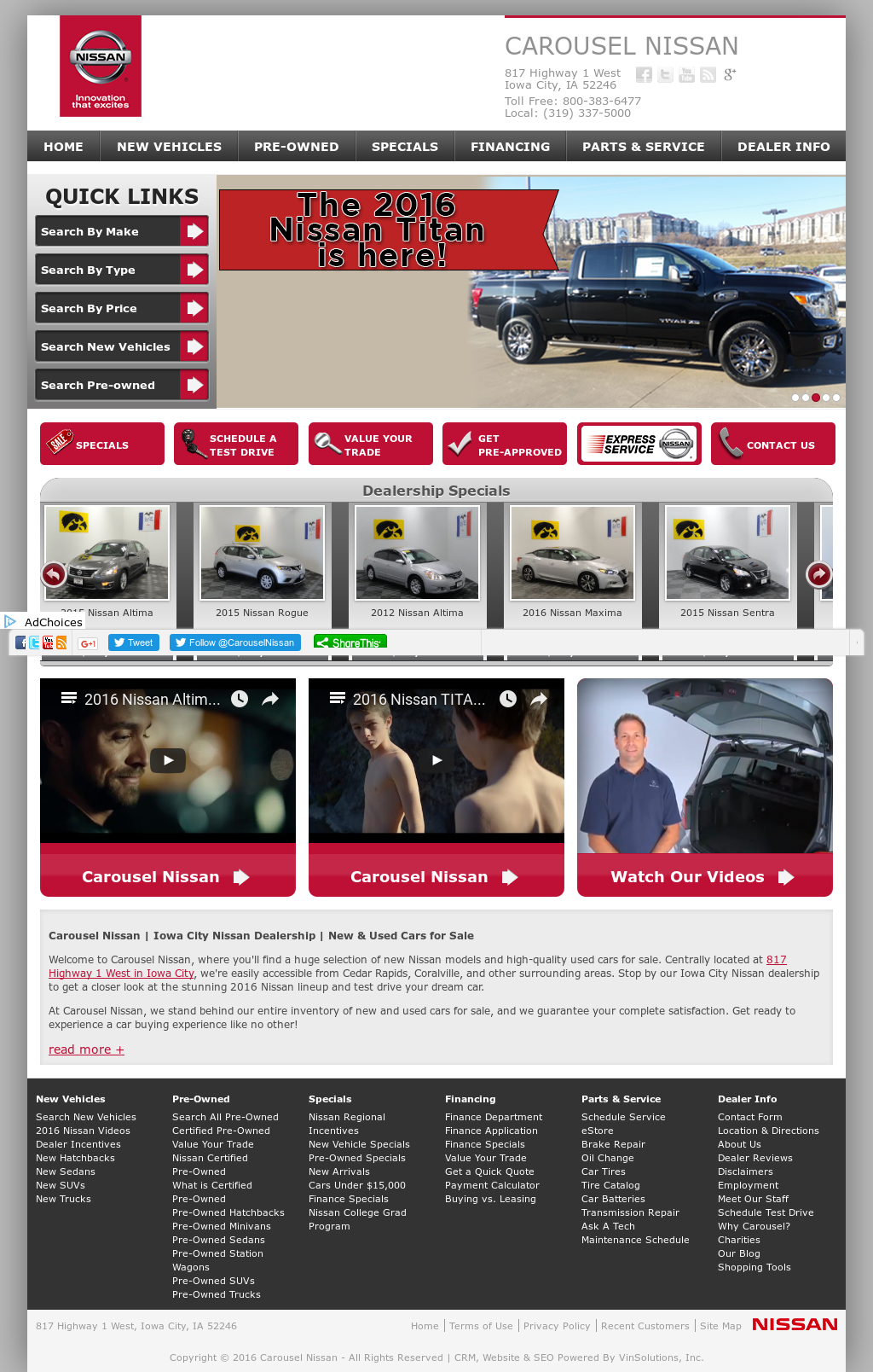 Carousel Motors Iowa City >> Carousel Nissan Iowa City ~ Perfect Nissan
