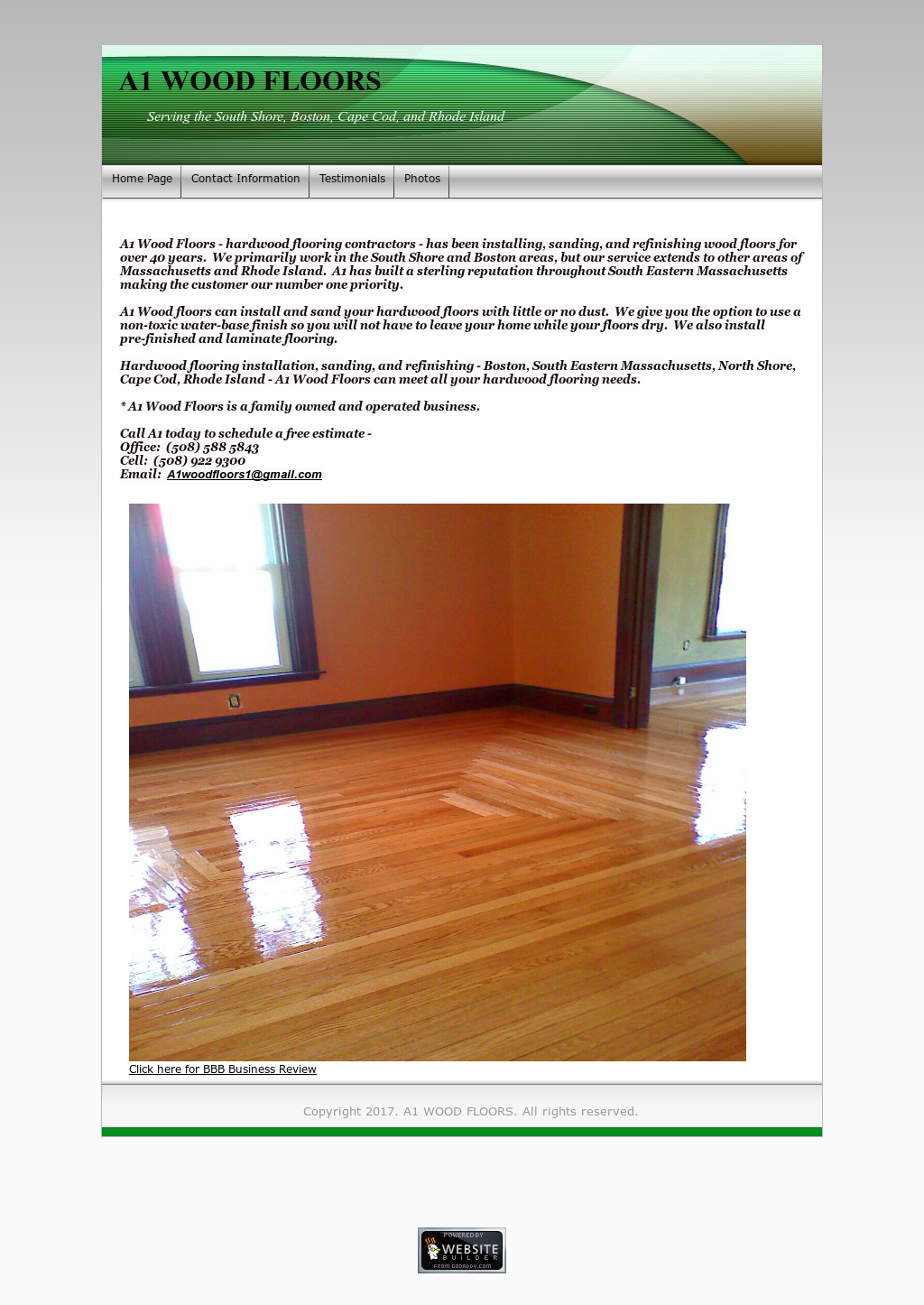 A1 Wood Floors Website History