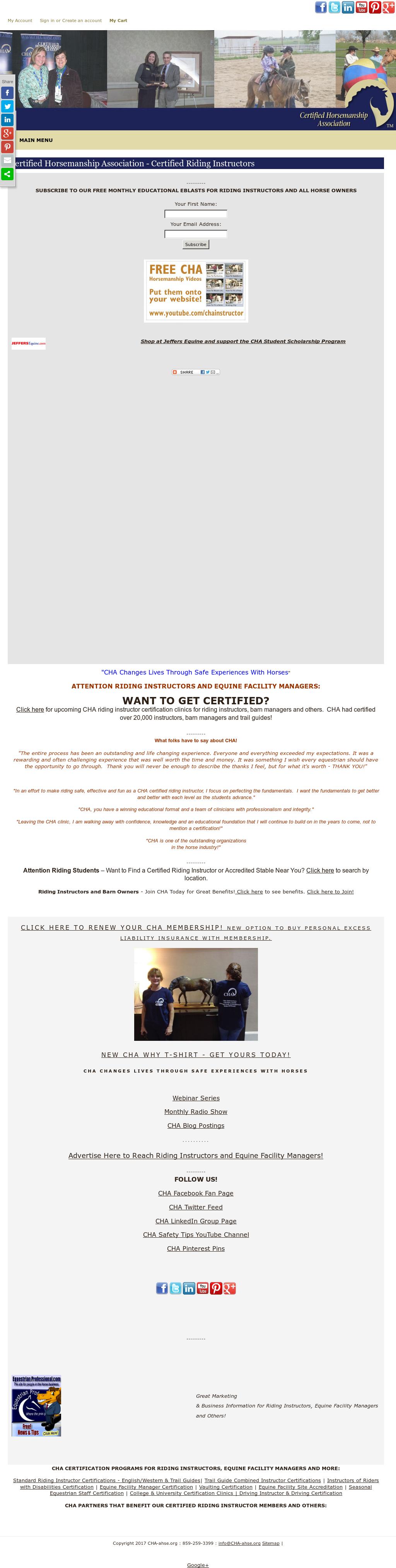 Certified Horsemanship Association Competitors Revenue And