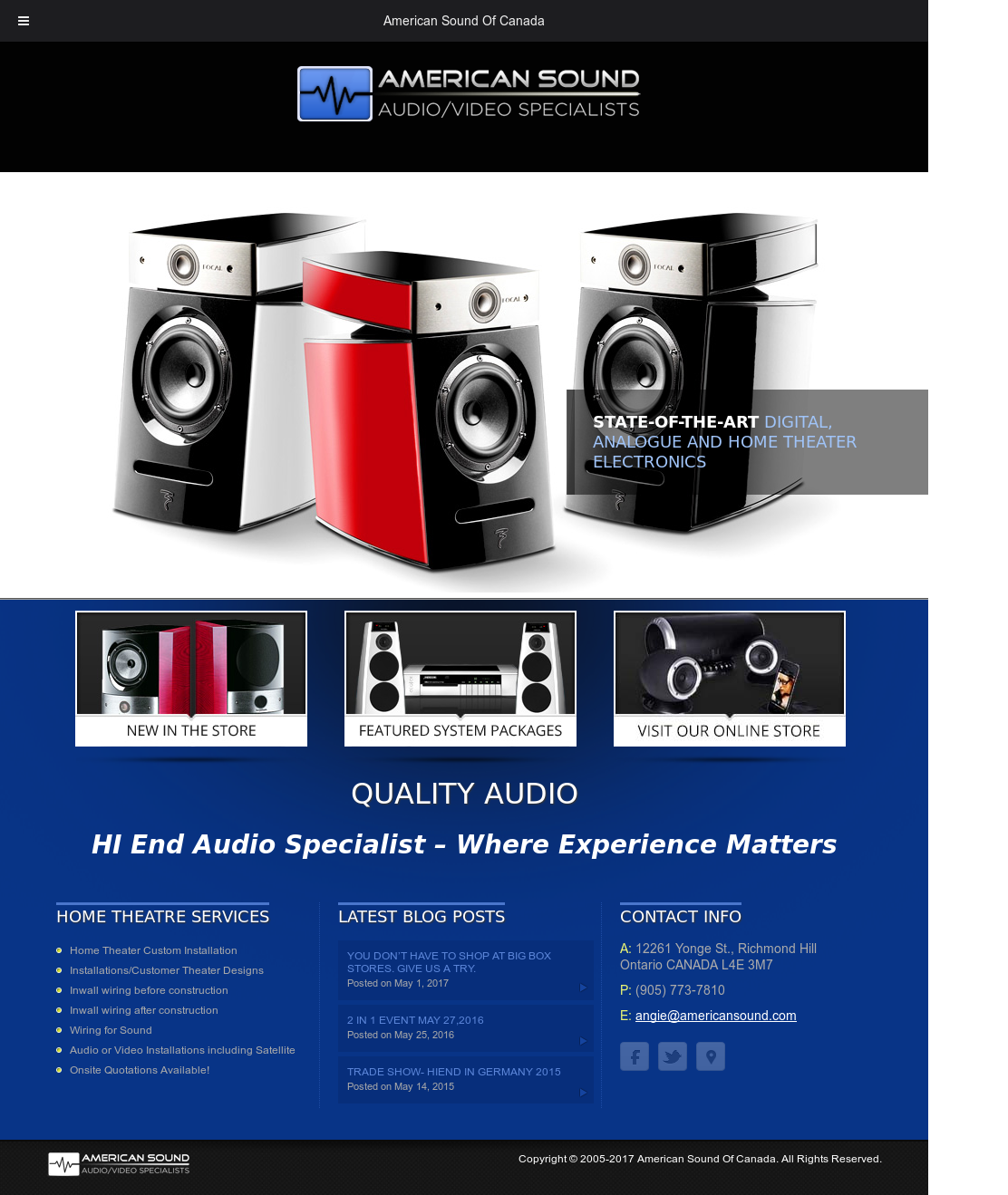 American Sound Of Canada Competitors Revenue And Employees Owler New Construction Wiring Home Theater Website History