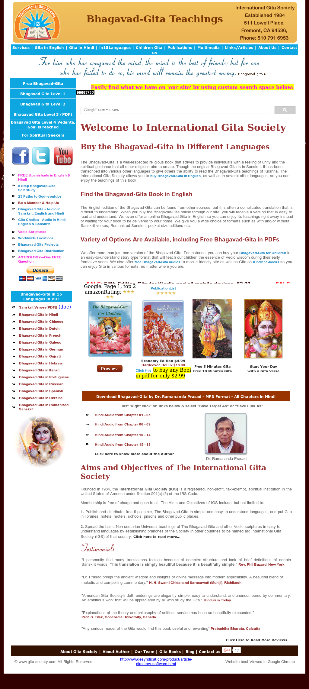 International Gita Soceity Competitors, Revenue and Employees