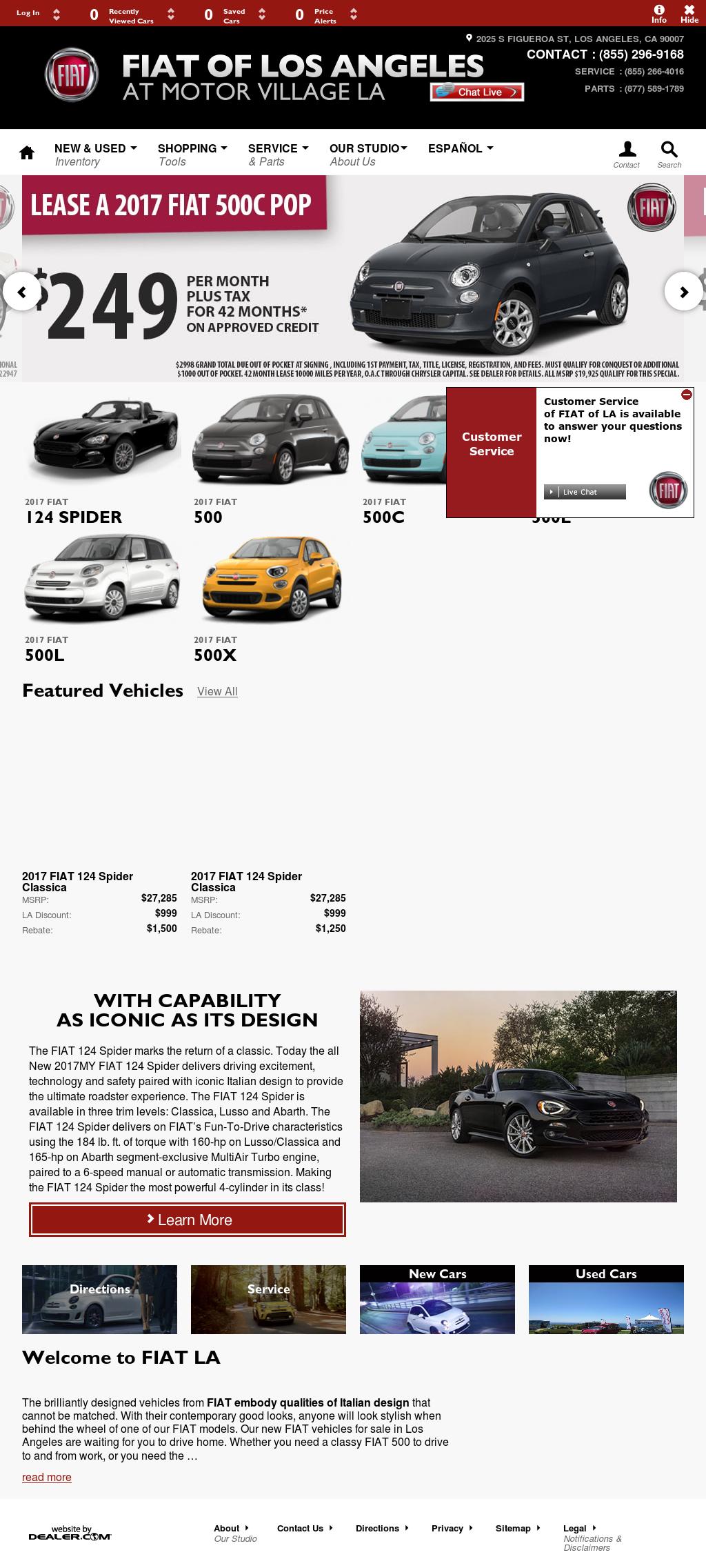 Motor Village La >> Fiat Of Los Angeles At Motor Village La Competitors Revenue