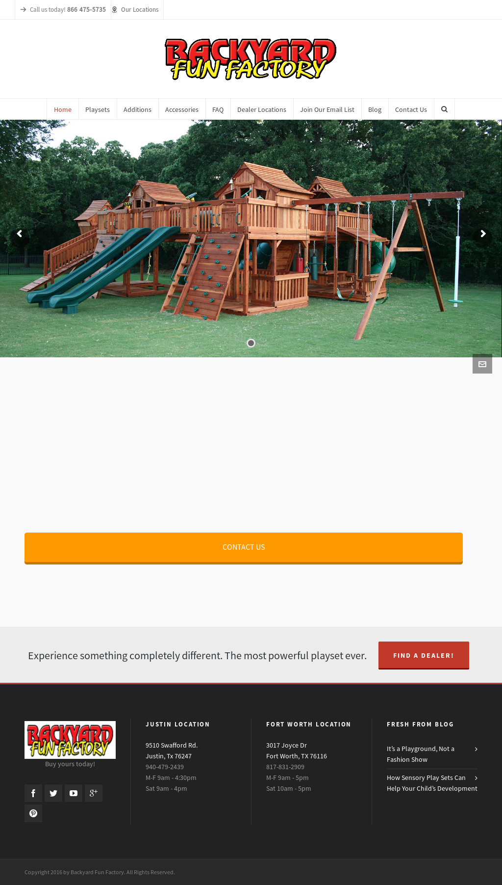 Backyard Fun Factory Website History
