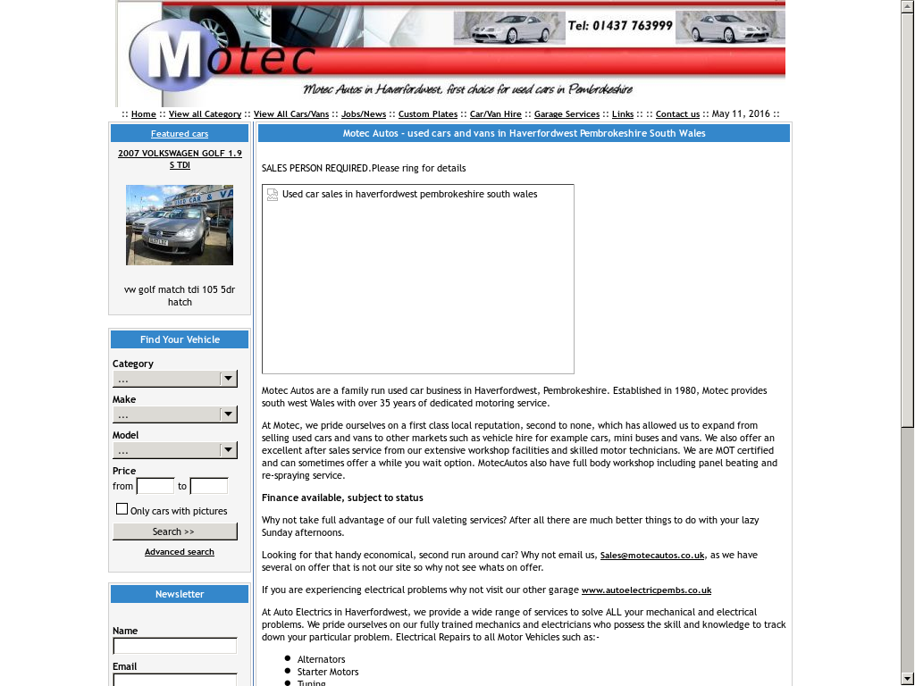 Motec Autos (Pembrokeshire) Competitors, Revenue and