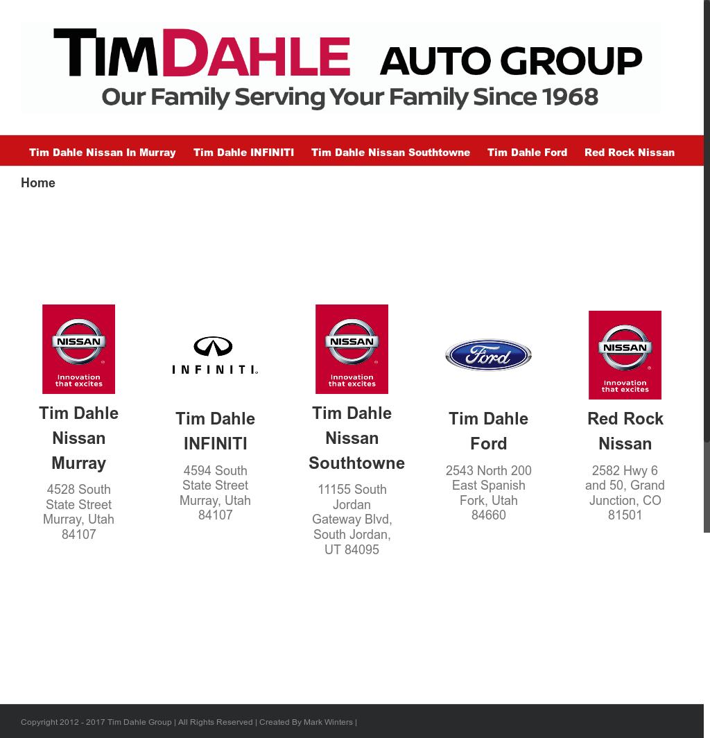 Tim Dahle Nissan Murray Website History