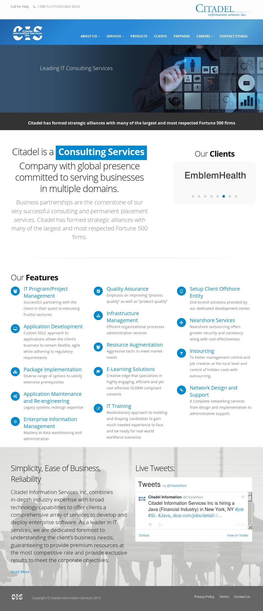 Citadel Information Services Competitors, Revenue and