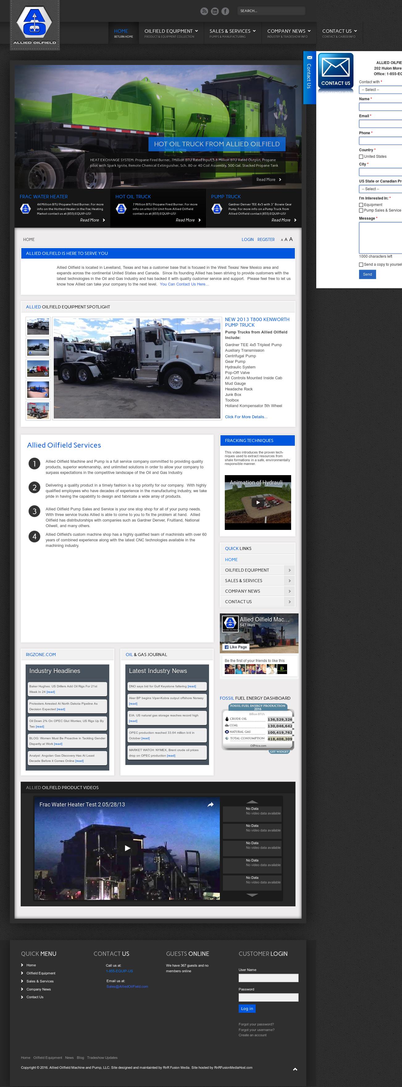 Allied Oilfield Machine & Pump Competitors, Revenue and