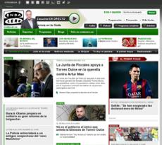 Onda Cero website history