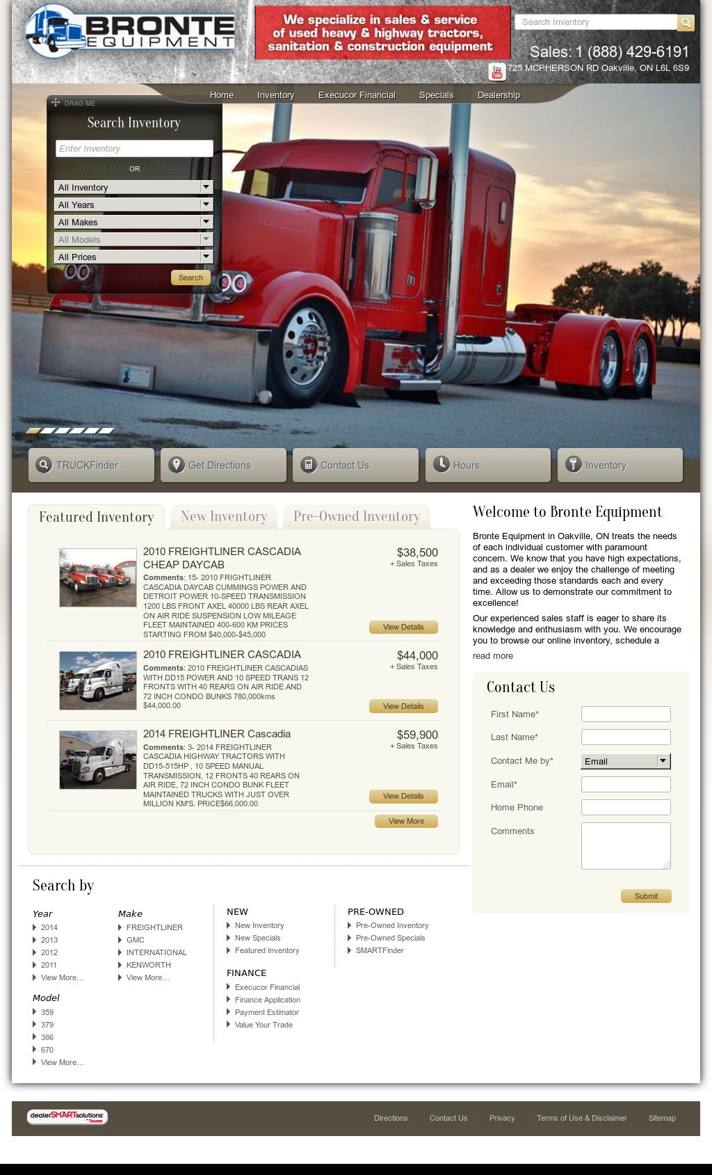 Bronte Equipment Truck Sales Competitors, Revenue and