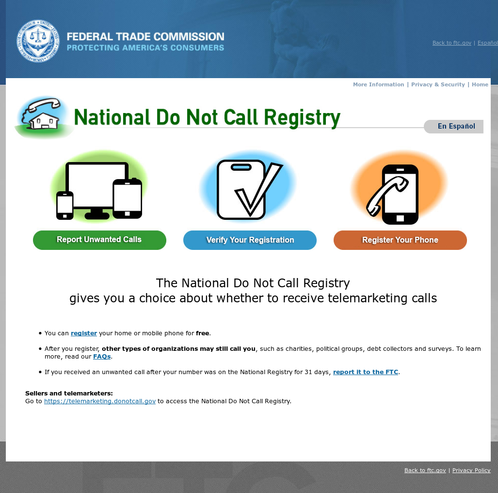national do not call registry competitors, revenue and employees