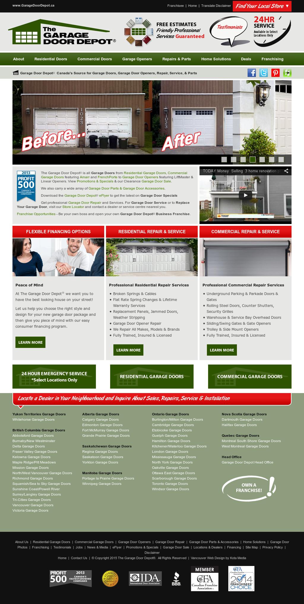 The Garage Door Depot Competitors Revenue And Employees Owler
