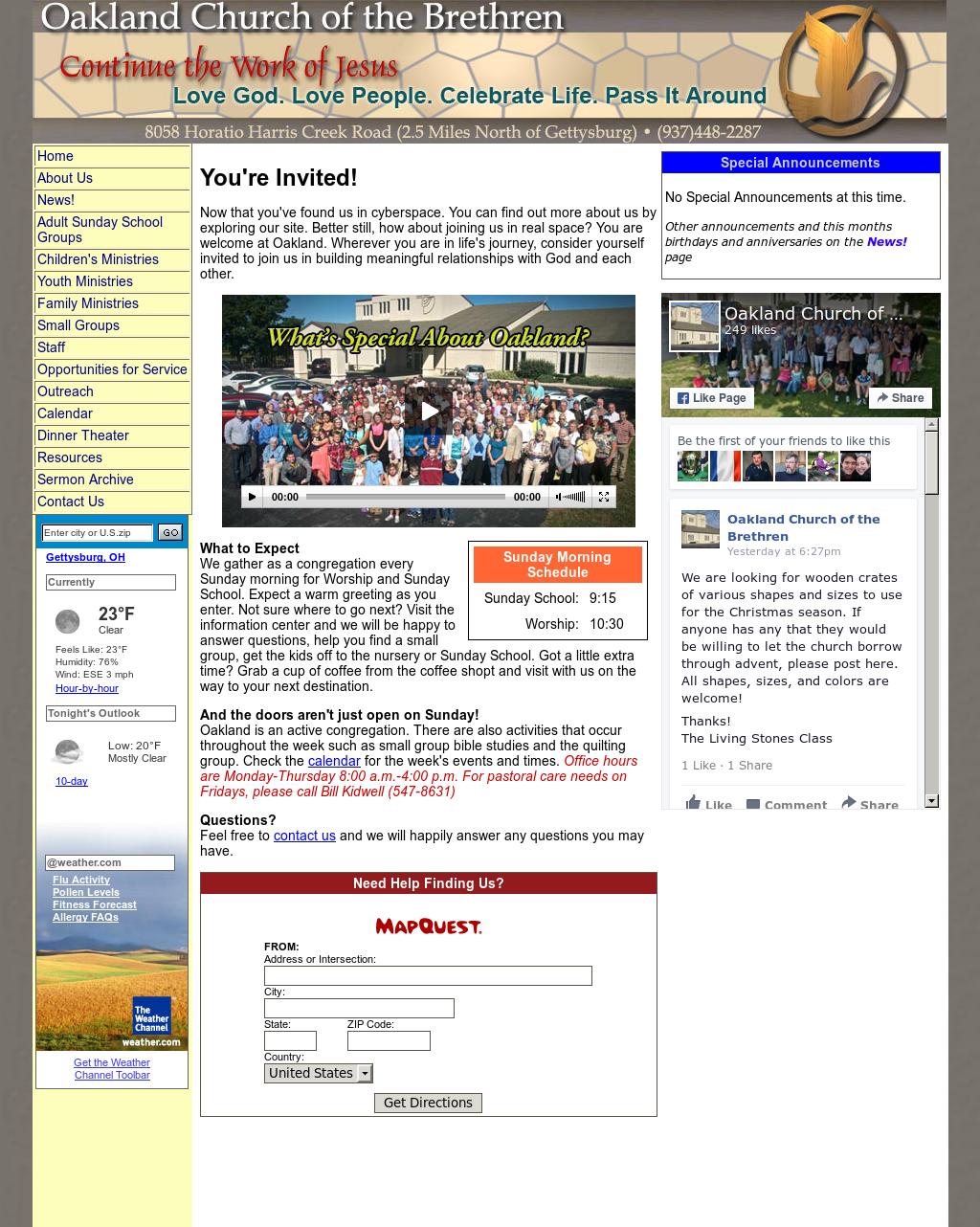 Oakland Church Of The Brethren Competitors, Revenue and