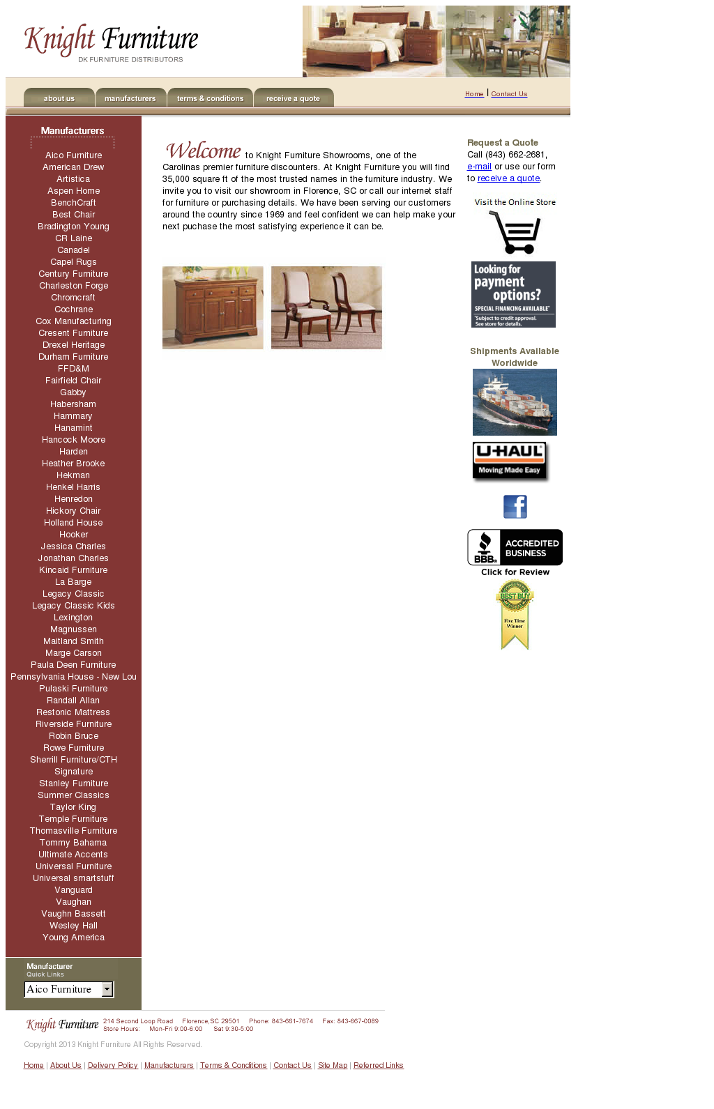Knight Furniture Showroom Compeors Revenue And Employees Owler Company Profile