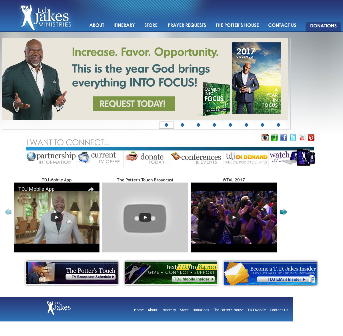 T  D  Jakes Ministries Competitors, Revenue and Employees