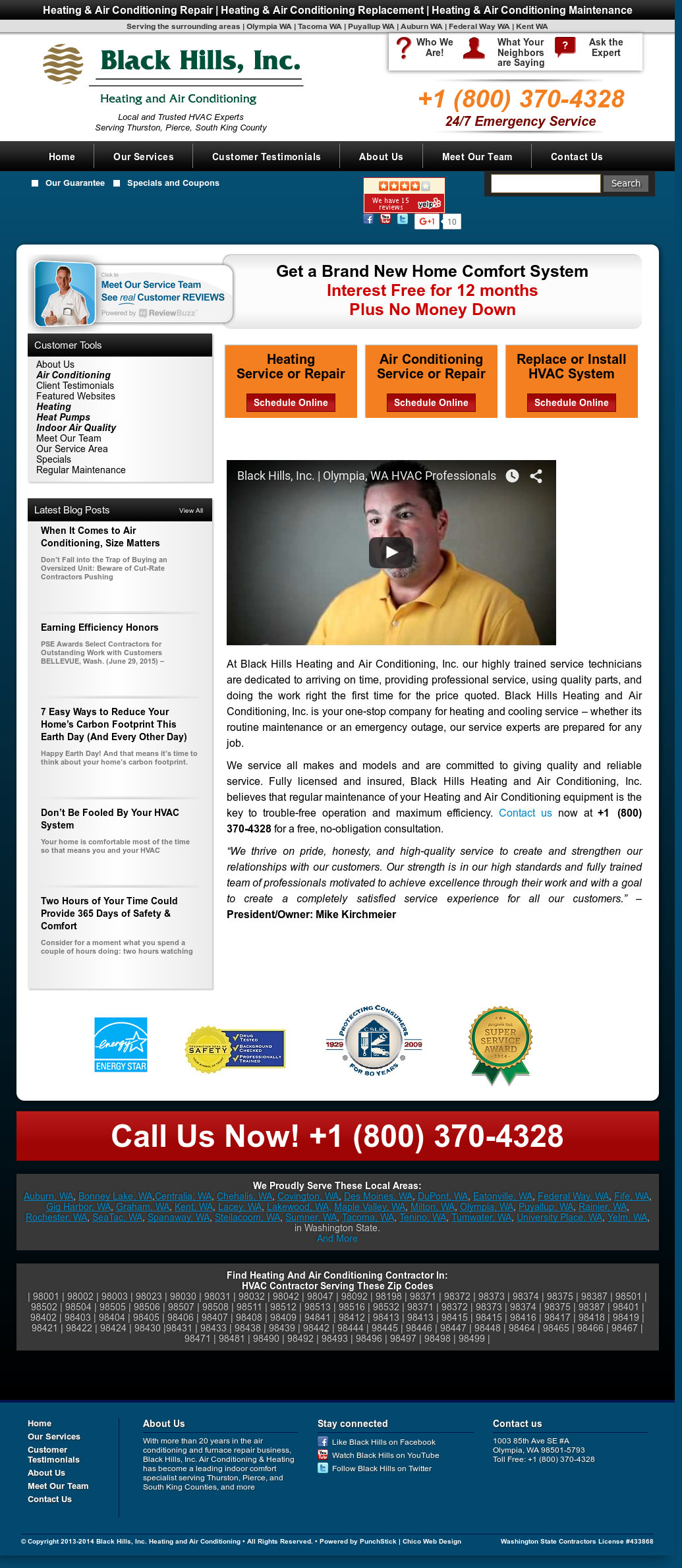 Black Hills Inc Heating And Air Conditioning Compeors Revenue Employees Owler Company Profile