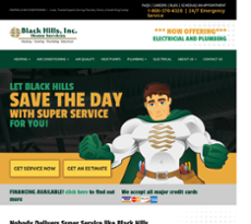 Black Hills Inc Heating And Air Conditioning Website History