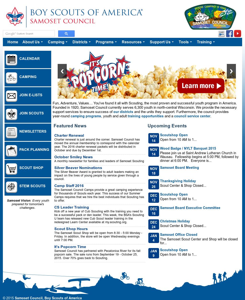 Boy Scouts Of America - Samoset Council Competitors, Revenue