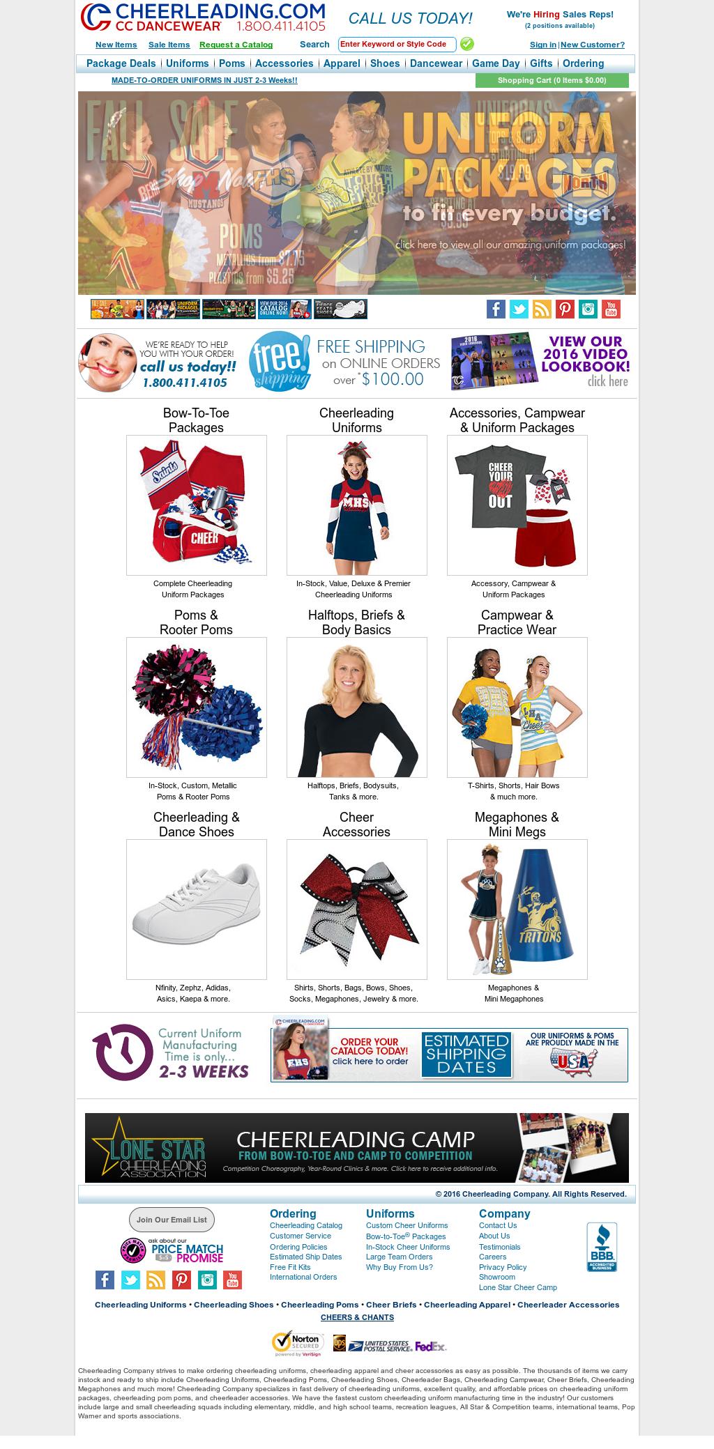 08340f3d82e Cheerleading Company Competitors