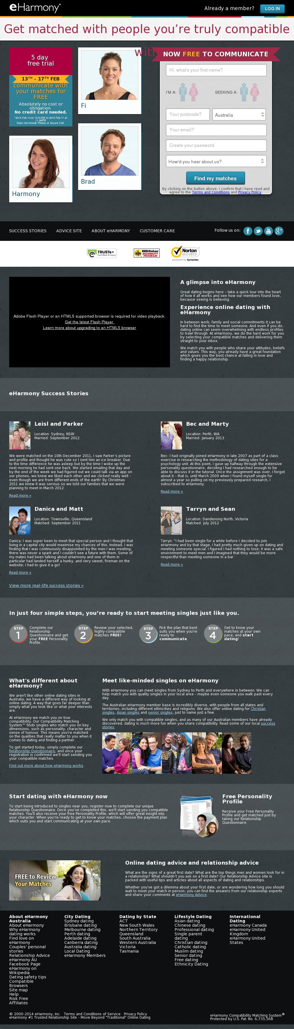 Dating-Website in der Zeit
