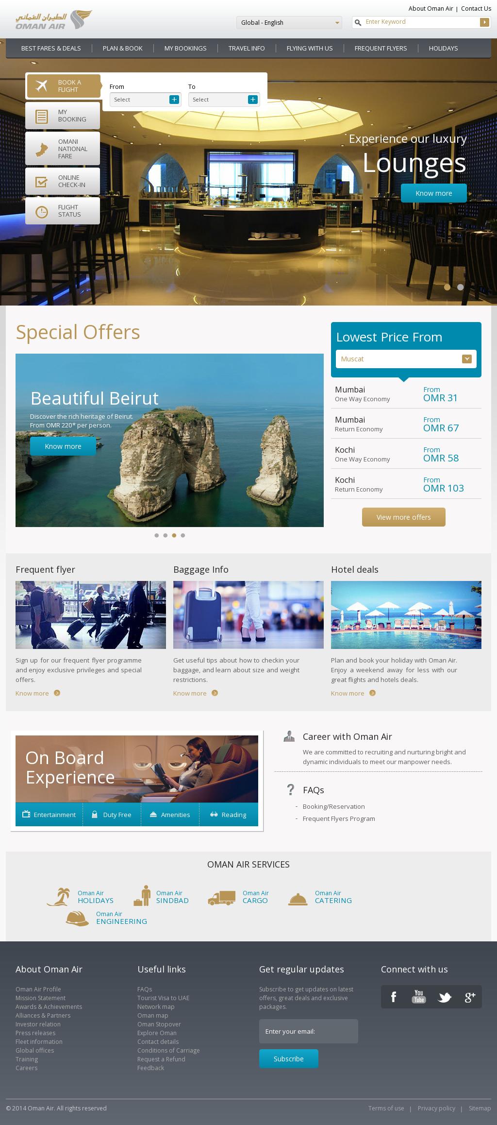 Oman Air Plan And Book