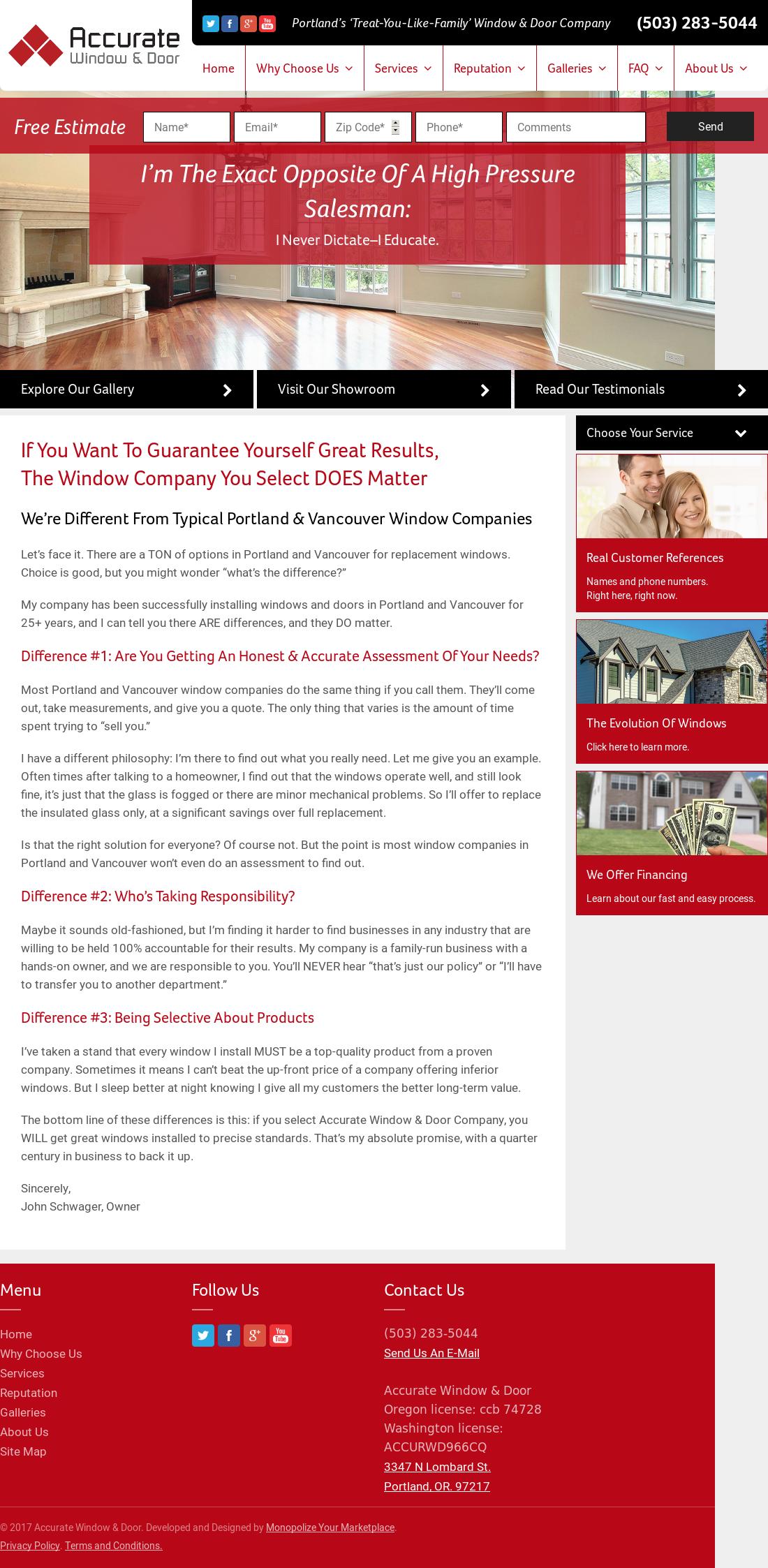 Accurate Window And Door Website History