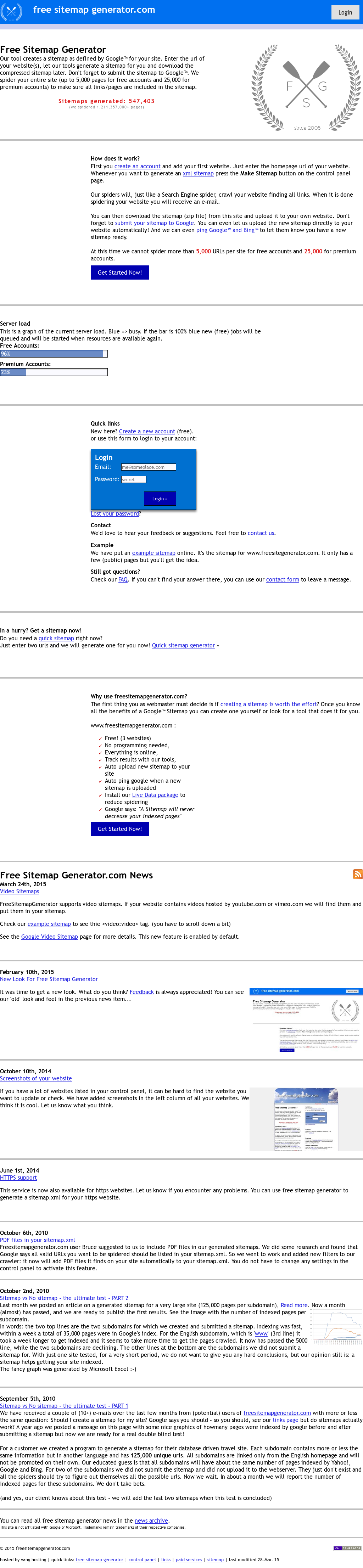 Free Sitemap Generator Competitors, Revenue and Employees