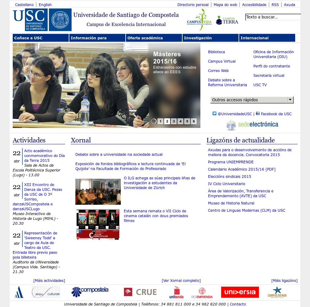 Usc Calendario.Compostela Group Of Universities Competitors Revenue And Employees